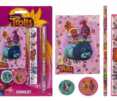 trolls 5pc stationery set